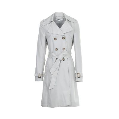 slim line trench coats grey